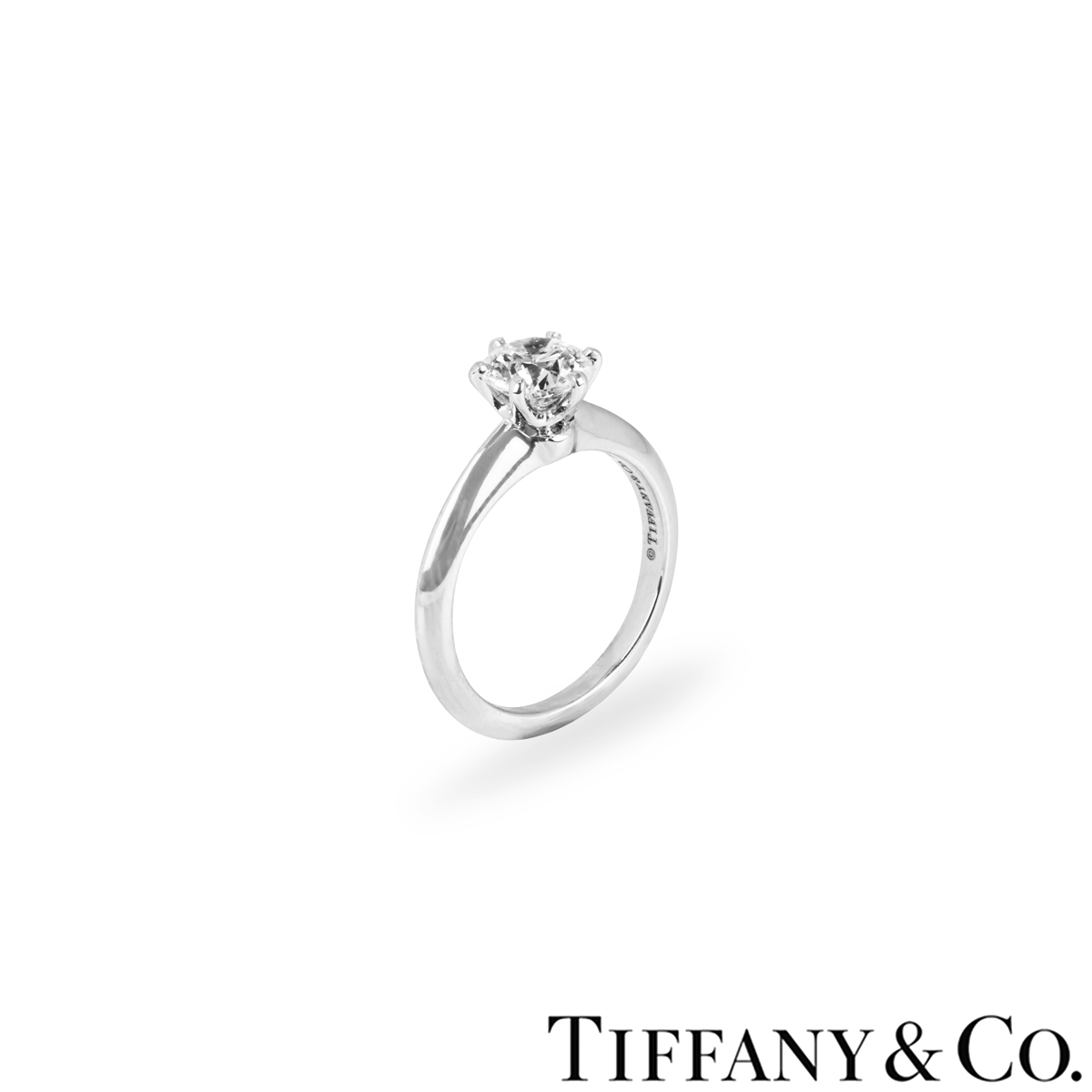 Tiffany & Co. Platinum Diamond Setting Ring 1.16ct I/VVS1 XXX
